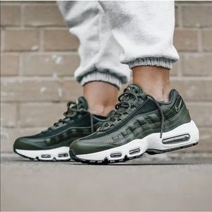 Women's Nike Air Max 95 LX Olive Canvas Sneakers